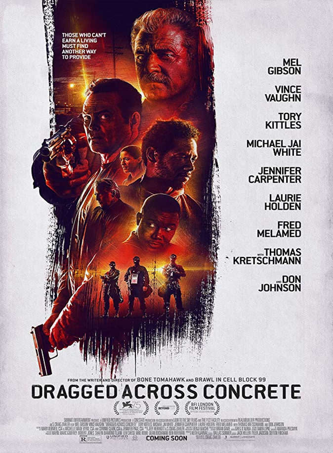 Dragged Across Concrete Review, Once two overzealous cops get suspended from the force, they must delve into the criminal underworld to get their proper compensation.